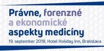 INESS na kongrese Právne, forenzné a ekonomické aspekty medicíny